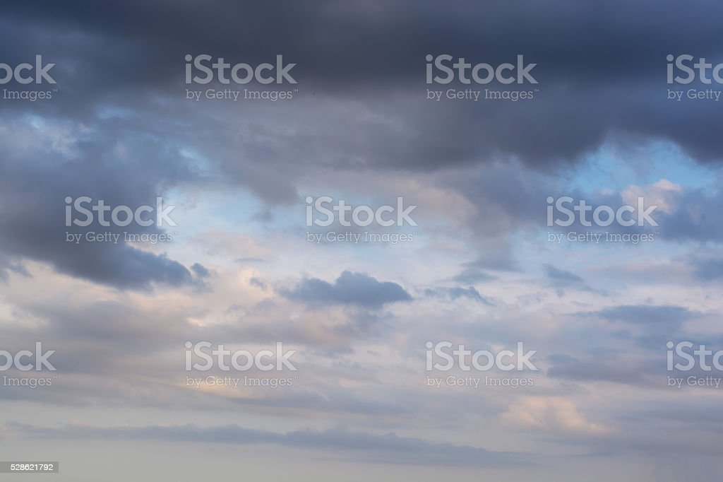 Dramatic stormy clouds sky background stock photo