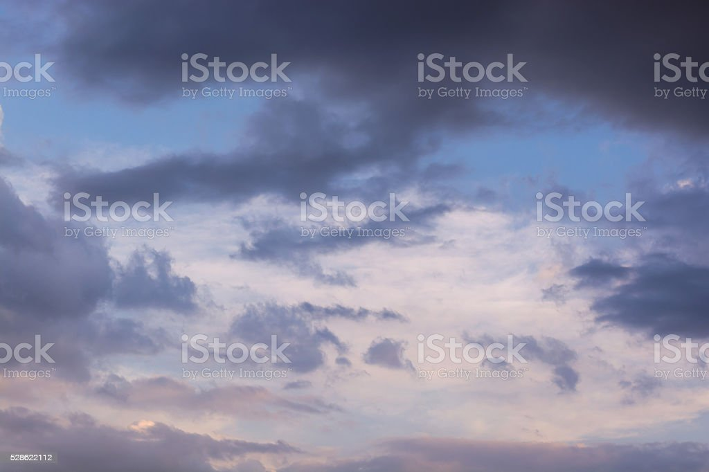 Dramatic stormy clouds sky background