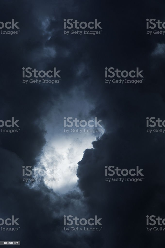 Dramatic, stormy sky royalty-free stock photo