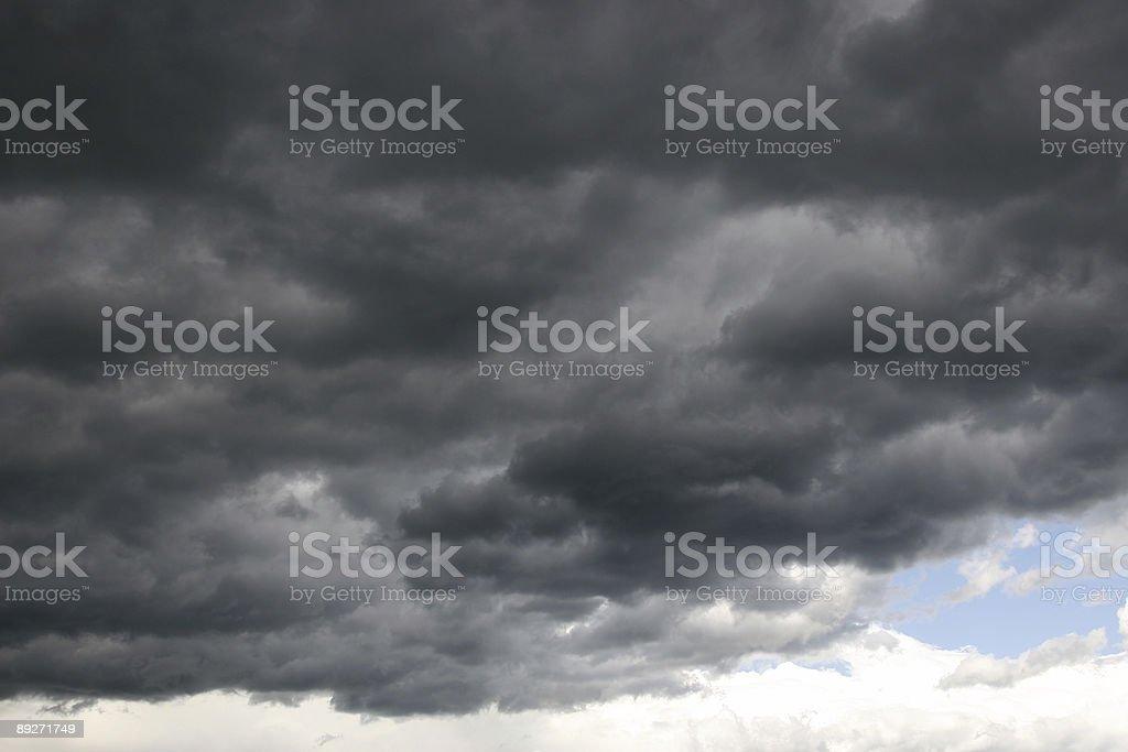 Dramatic stormy sky royalty-free stock photo