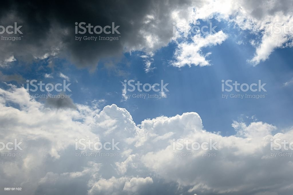 Dramatic Summer Cloudscape stock photo