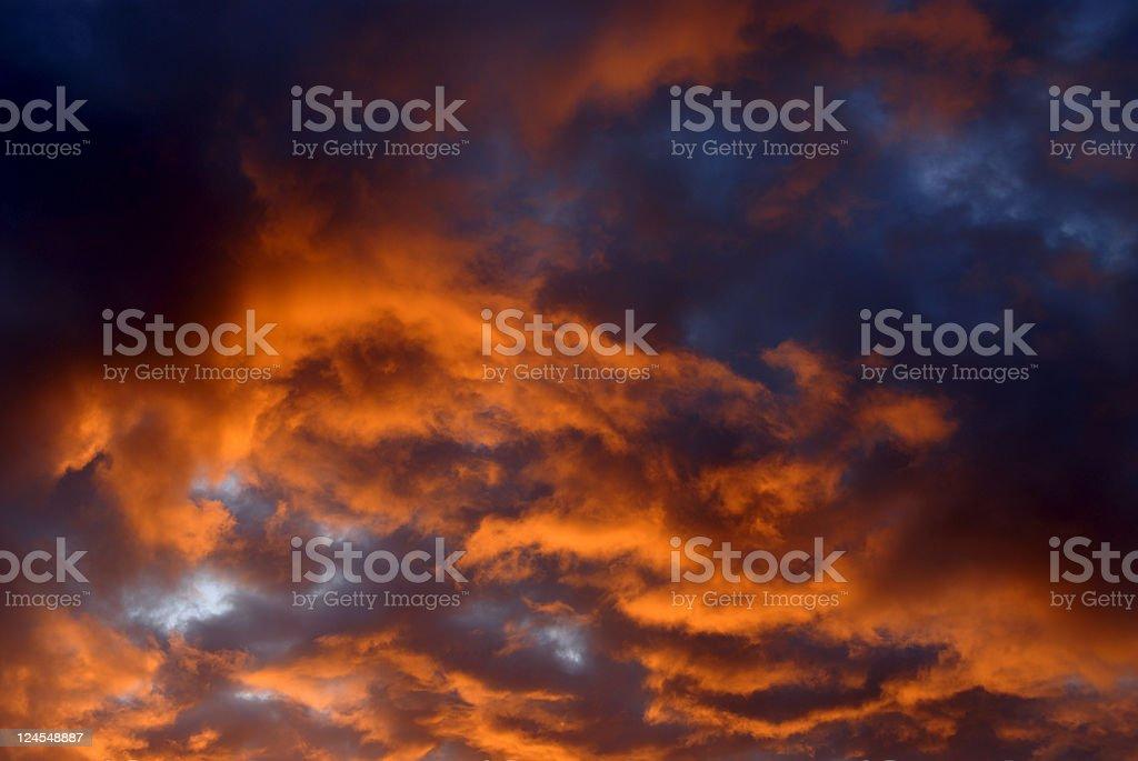 Dramatic Sunrise Sky royalty-free stock photo