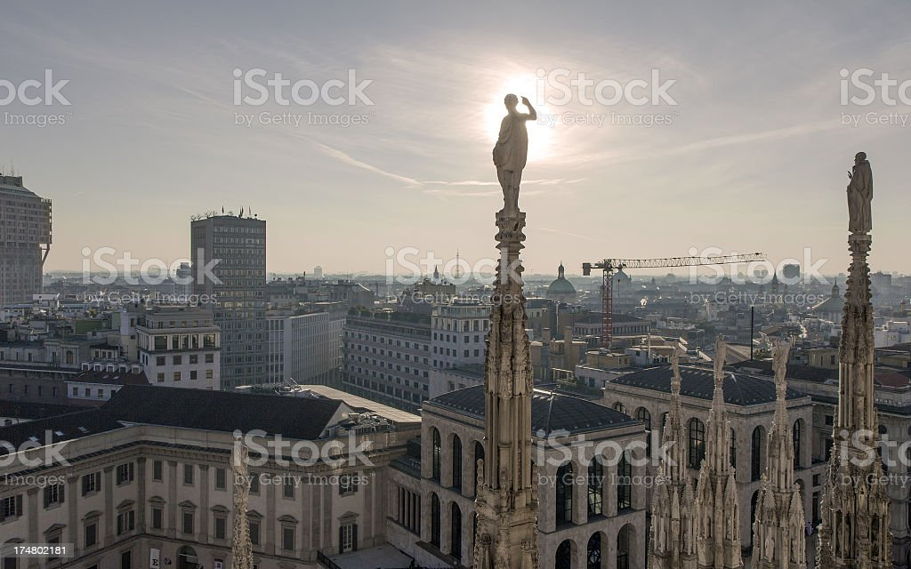 Dramatic Sunset in the City royalty-free stock photo