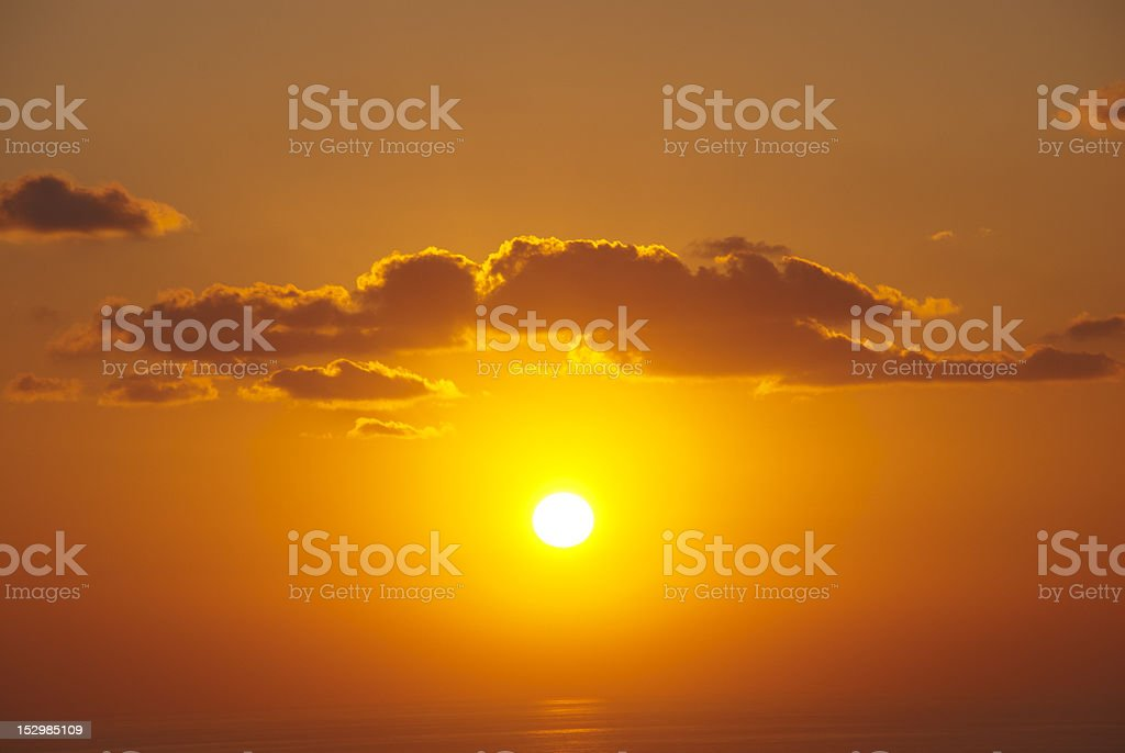 Dramatic sunset royalty-free stock photo