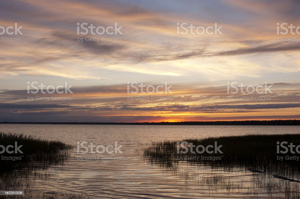 Dramatic Sunset royalty-free stock photo