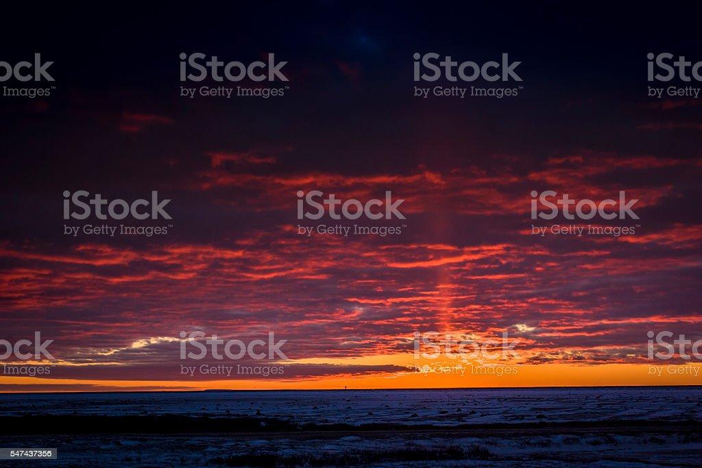 Dramatic sunset. stock photo