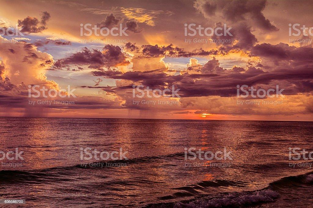 Dramatic Sunset Series stock photo