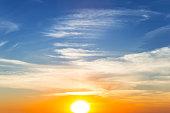 dramatic sunset sky background