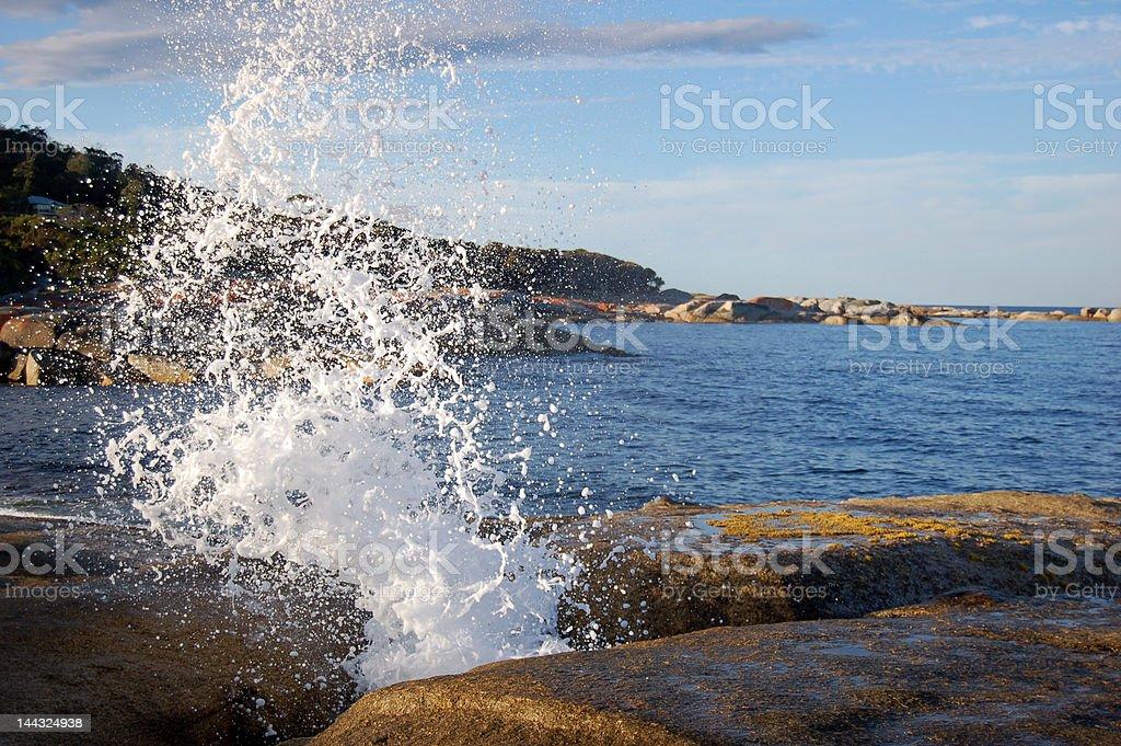 Dramatic Tasmanian Water Geiser stock photo