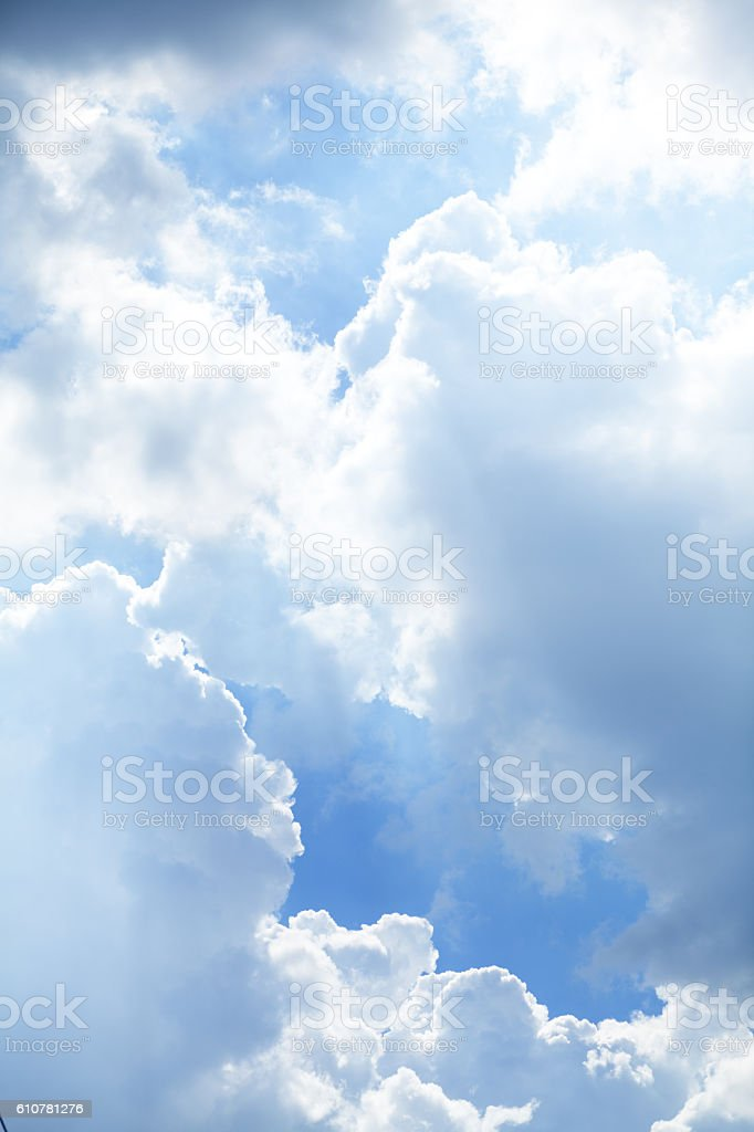 Dramatic tropical sky stock photo