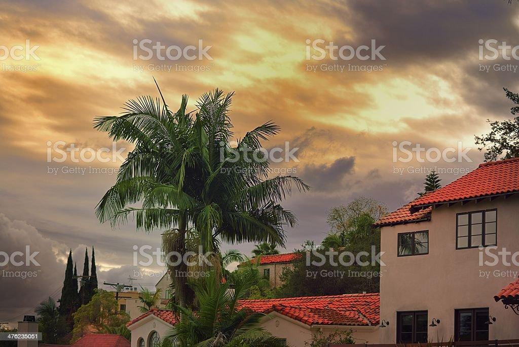 Espectacular vista de las colinas de Hollywood - foto de stock