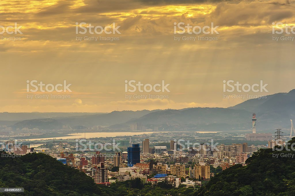 Dramatic view of city royalty-free stock photo