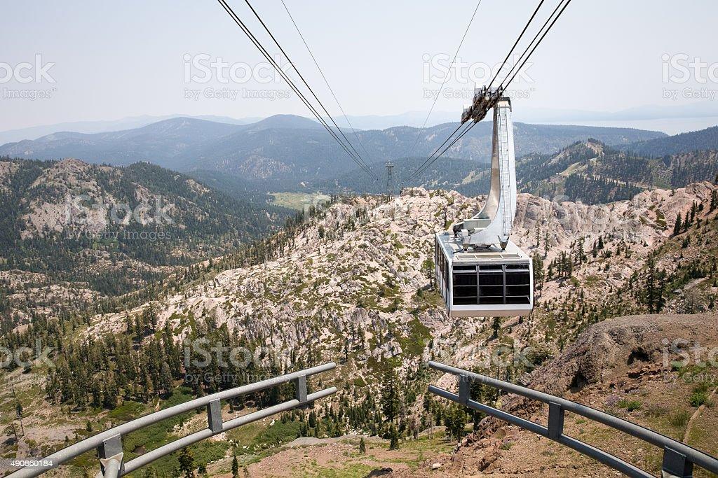 Dramatic View of Hanging Gondola stock photo