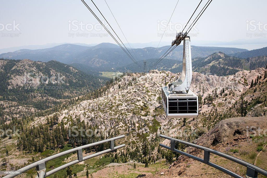 Dramatic View of Hanging Gondola stock photo