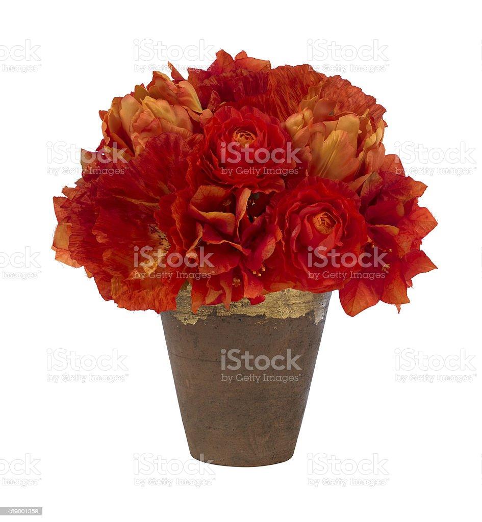 Dramatic vivid orange bouquet on white background royalty-free stock photo