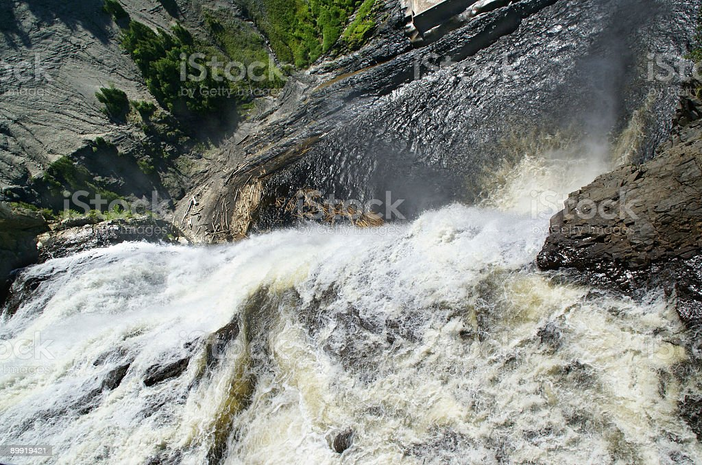 Dramatic Waterfall from Above stock photo