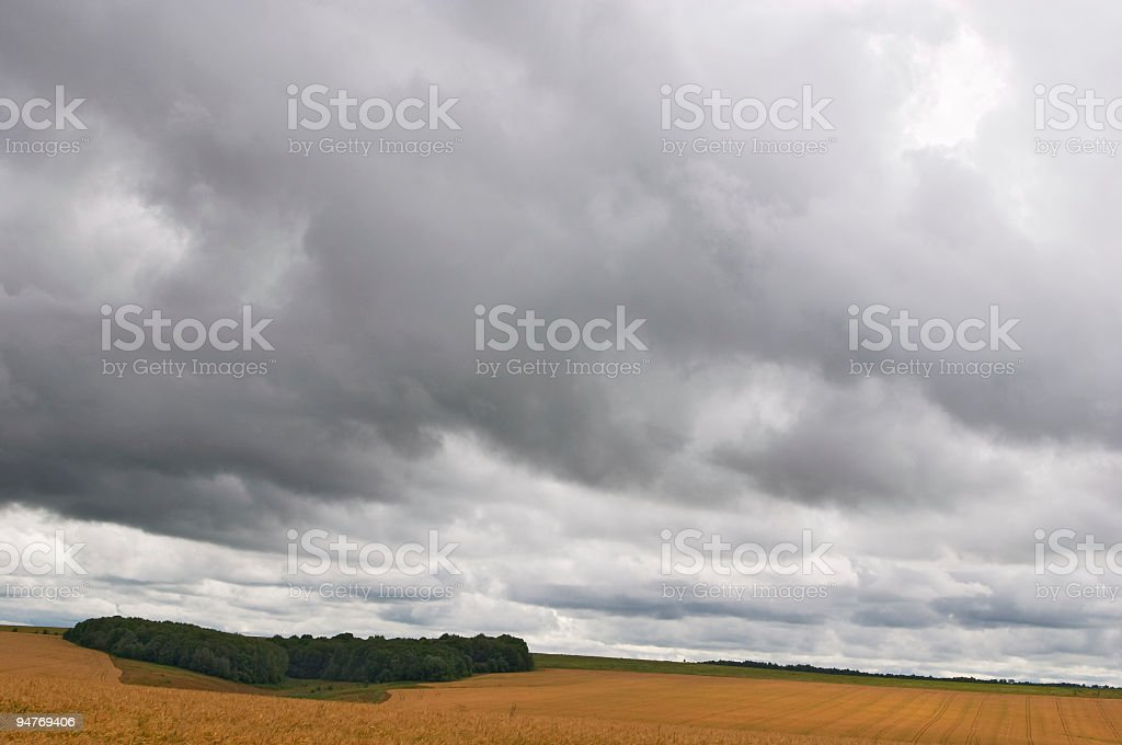 dramatically rain clouds royalty-free stock photo