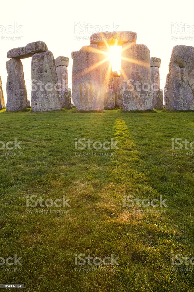 Dramtic Sunset at Stonehenge Vertical stock photo