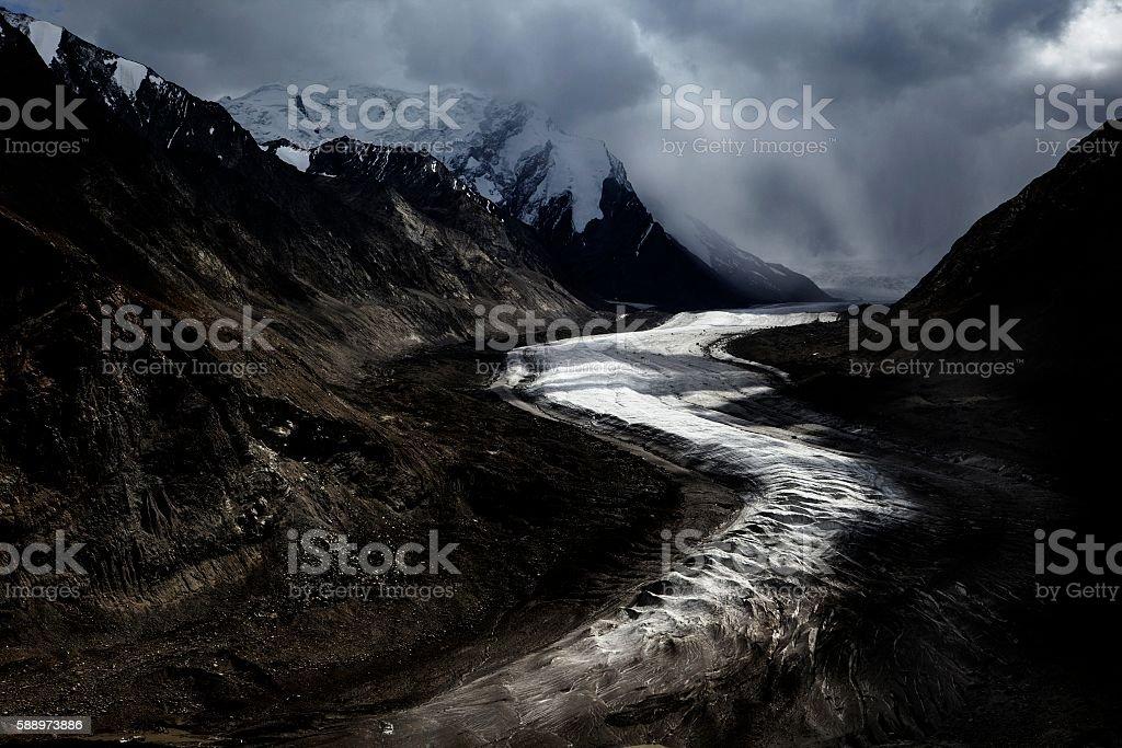 Drang-Drung Glacier, Zanskar, J&K, India stock photo