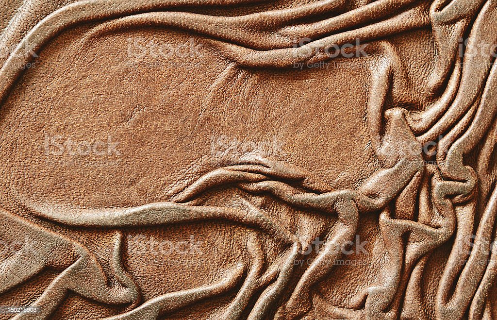 Draped leather royalty-free stock photo