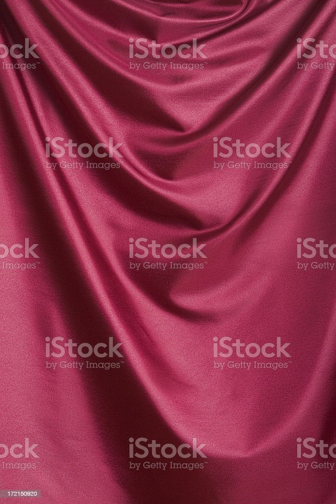 Draped red satin royalty-free stock photo