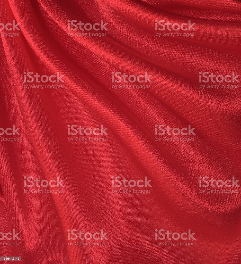 Draped red silk background stock photo