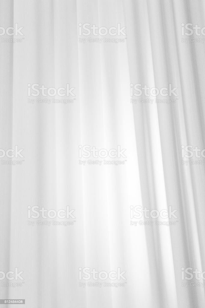 Drapes White Linen Fabric Textile stock photo