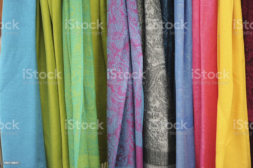 Draping Scarves stock photo