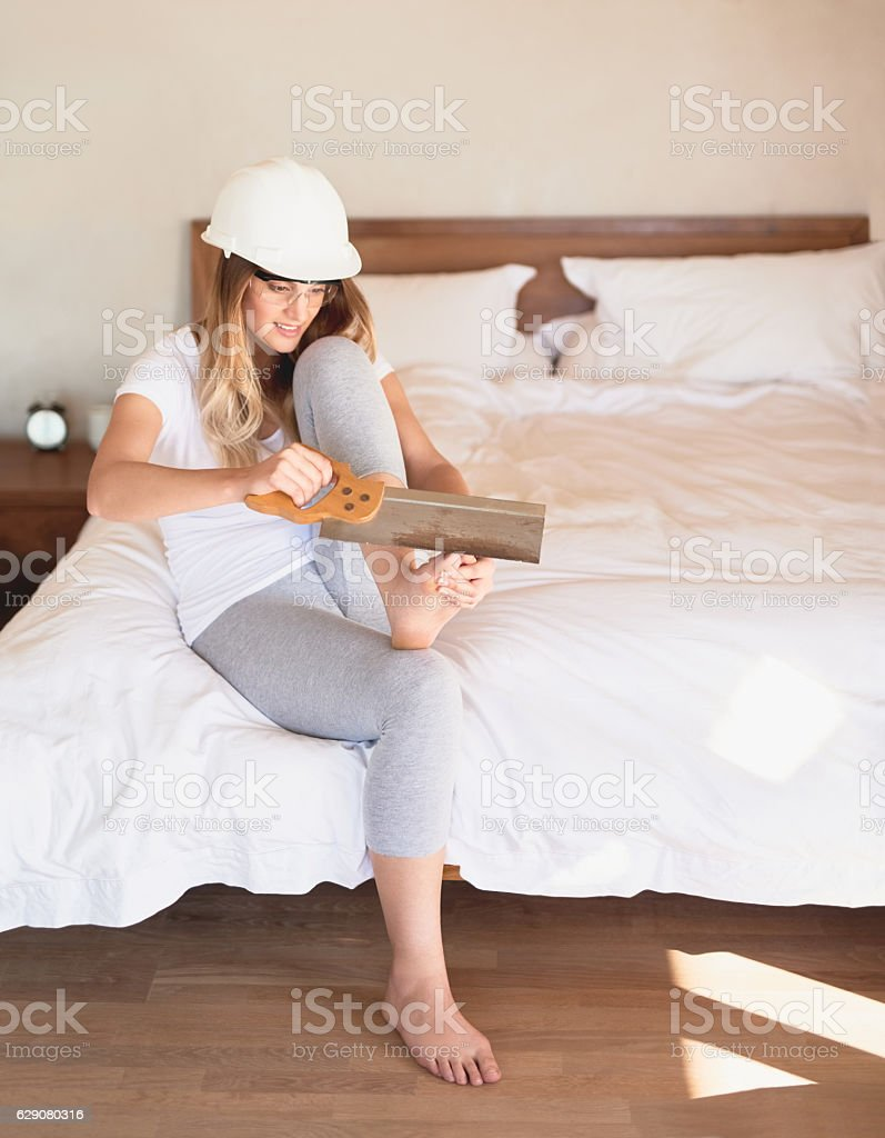 Drastic times call for drastic measures... stock photo
