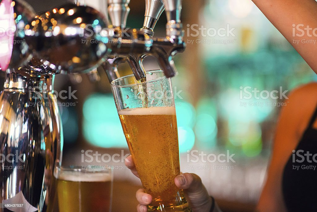 Draught Beer Tap stock photo