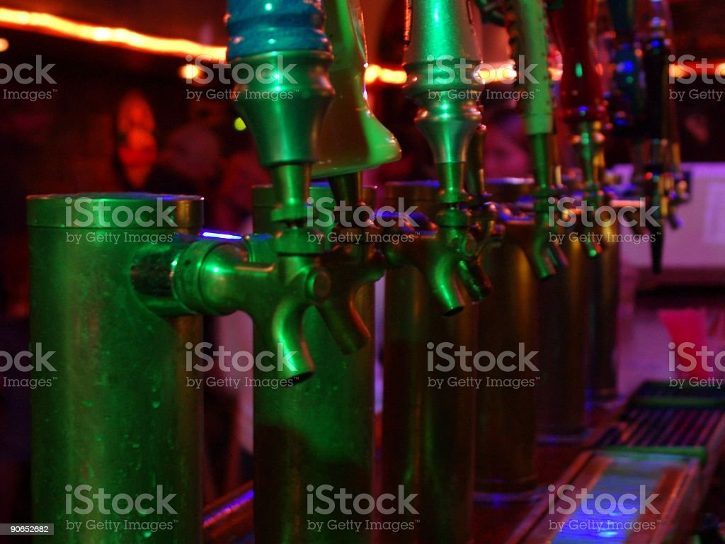draught beer taps royalty-free stock photo
