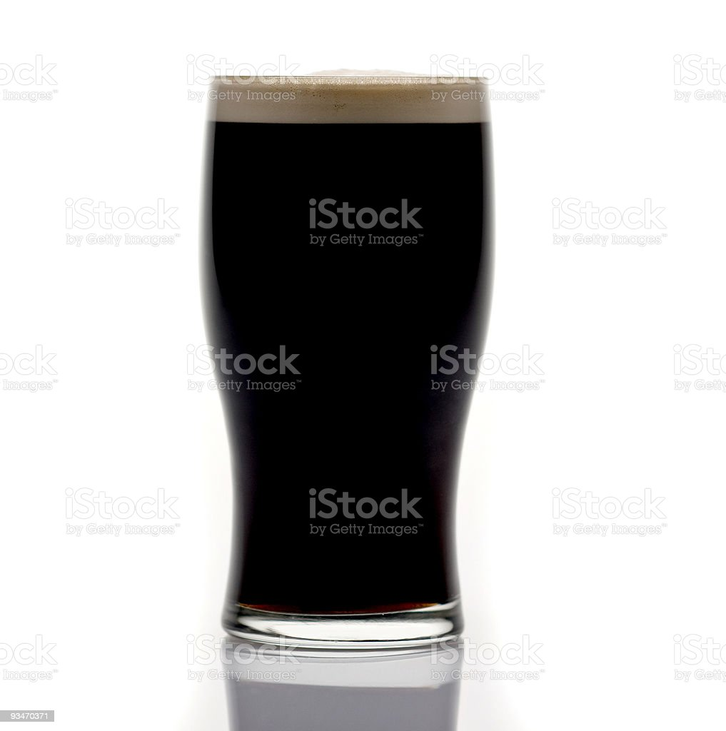 Draught Irish Stout royalty-free stock photo