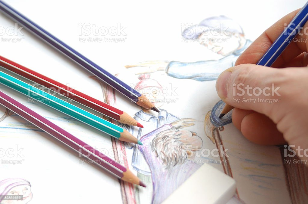 Draw a picture royalty-free stock photo