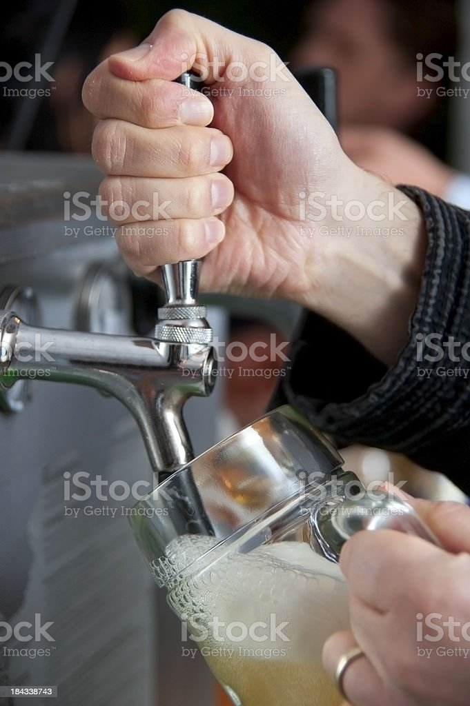 draw beer stock photo