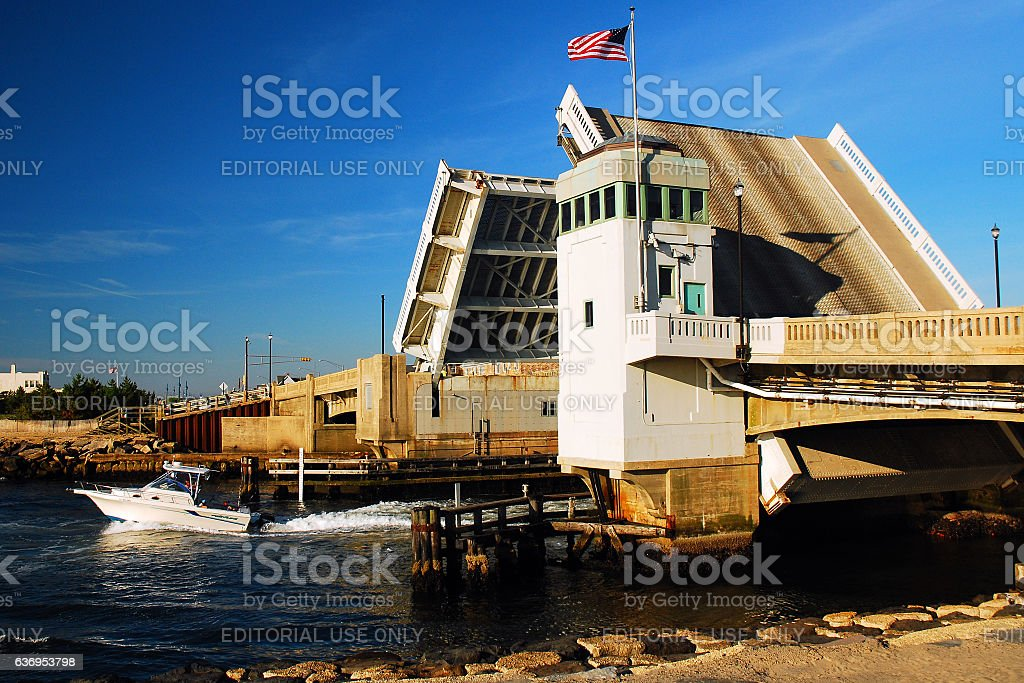 Draw Bridge Open stock photo