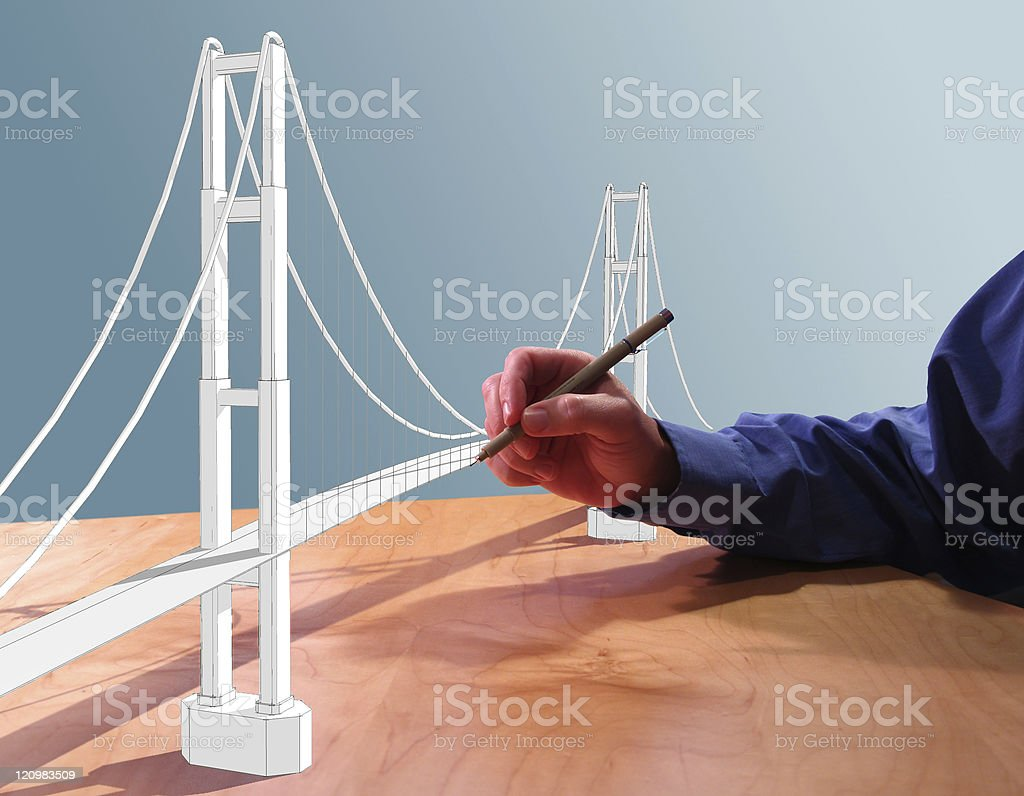 Draw Bridge royalty-free stock photo