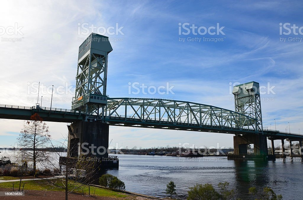 Draw Bridge stock photo