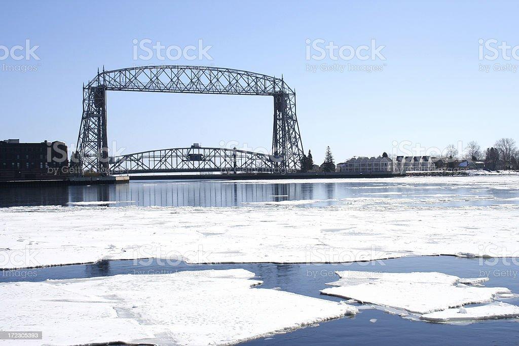 Draw bridge stock photo