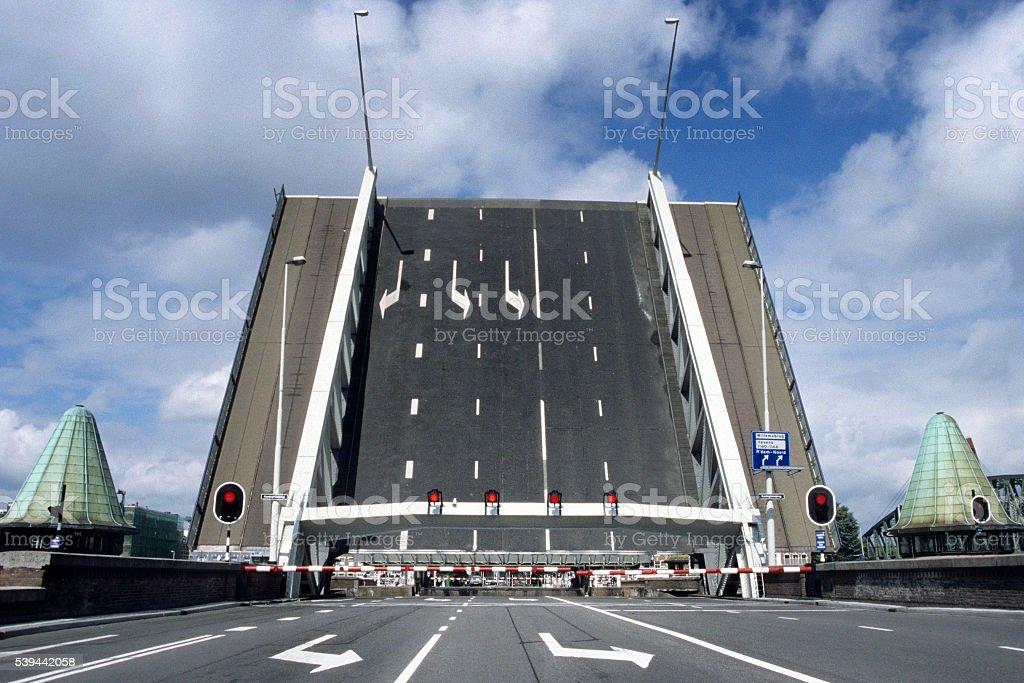 Draw bridge, Rotterdam, The Netherlands stock photo