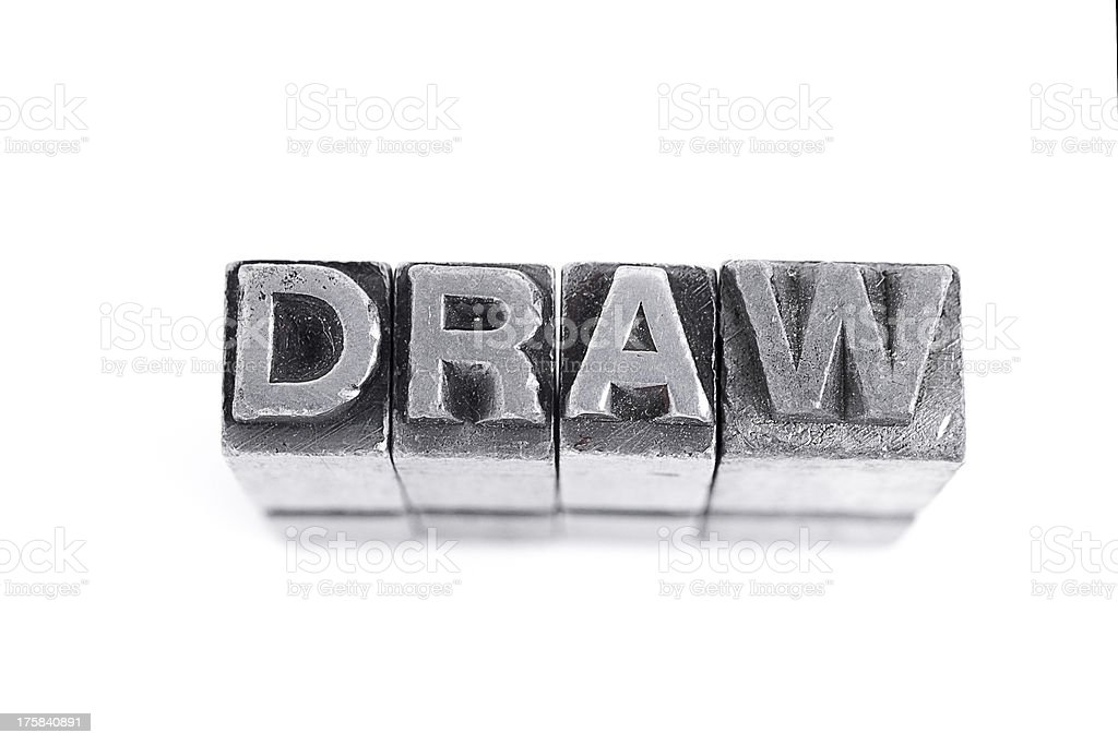 Draw Sign royalty-free stock photo