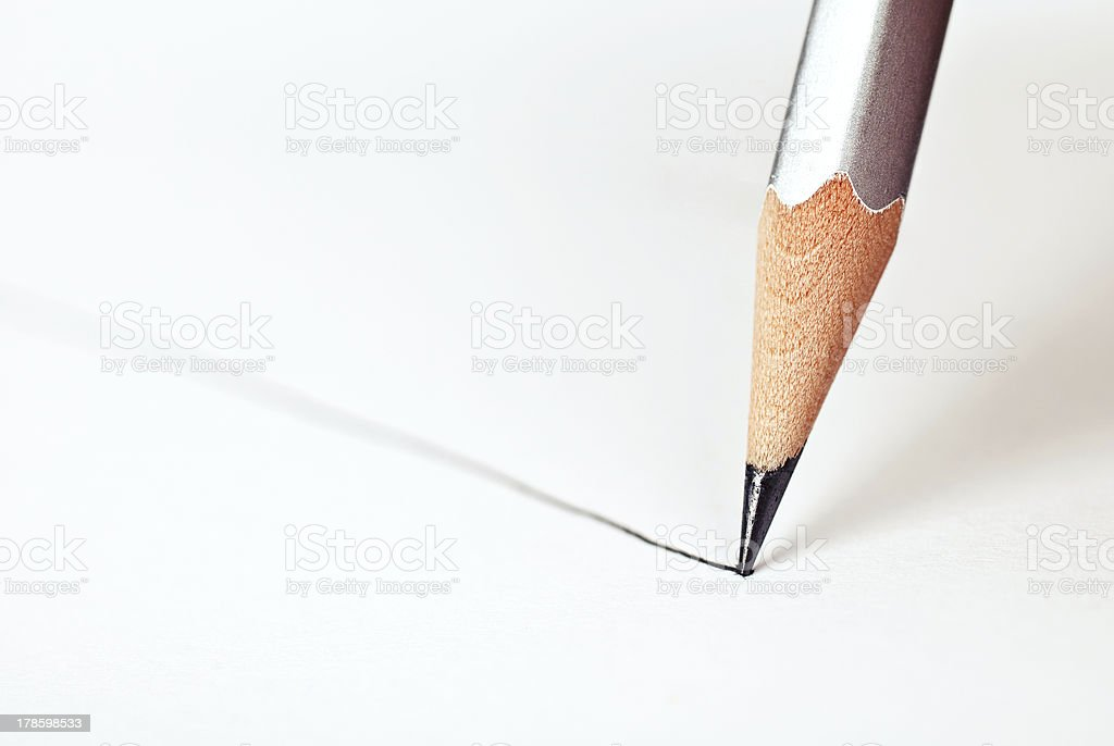 Draw the line royalty-free stock photo