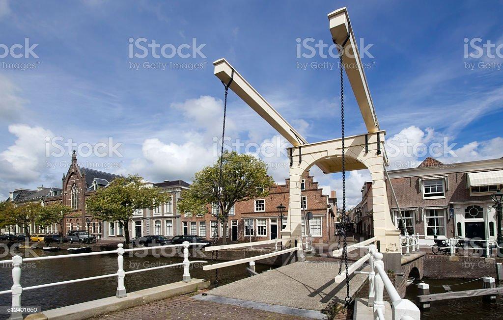 Drawbridge in Alkmaar, Holland stock photo