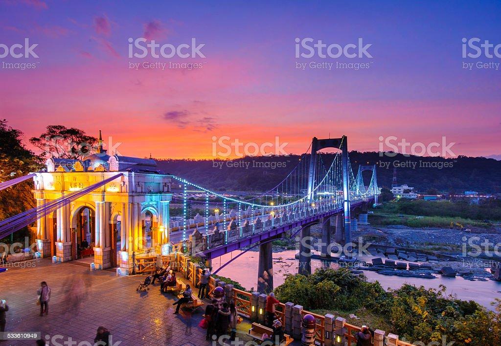 drawbridge in daxi, taoyuan, taiwan stock photo