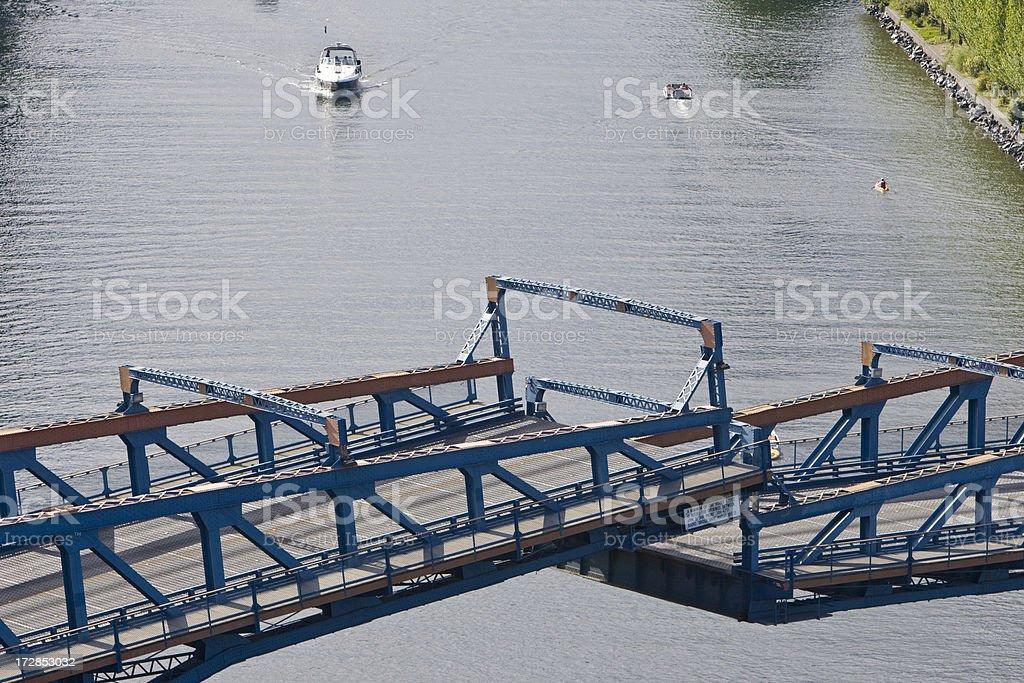 Drawbridge stock photo