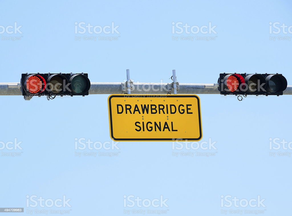 Drawbridge Signal Light stock photo