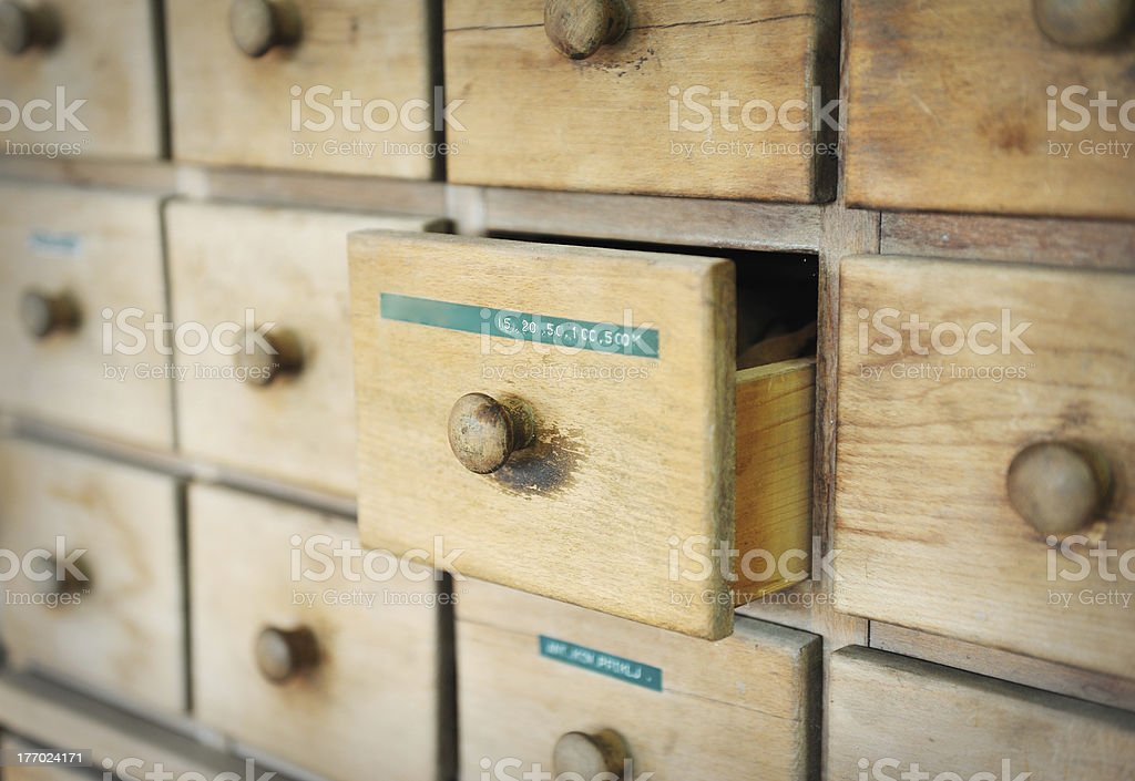 Drawer for tools royalty-free stock photo