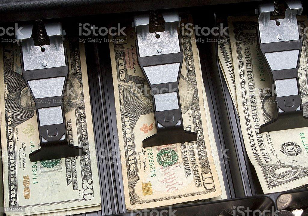 Drawer Full of Cash stock photo