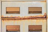 drawer steel old rust