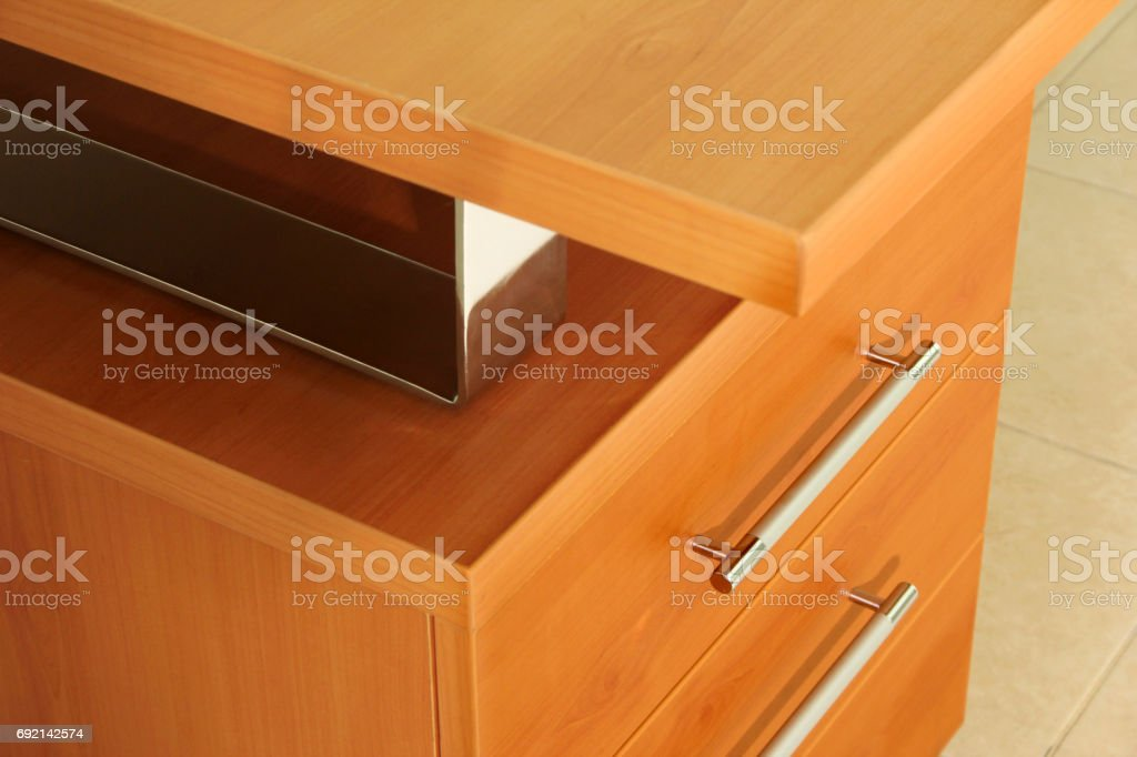 drawers office desk stock photo