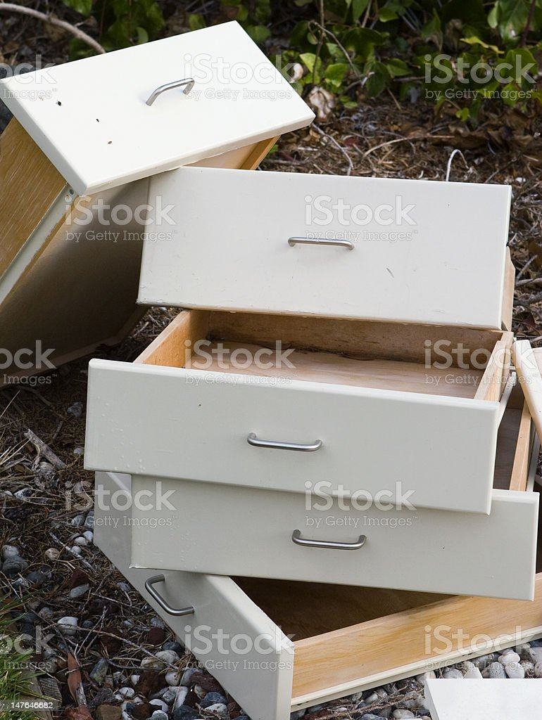 Drawers Stacked royalty-free stock photo